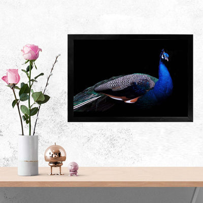 Peacock Animal Glass Framed Posters & Artprints