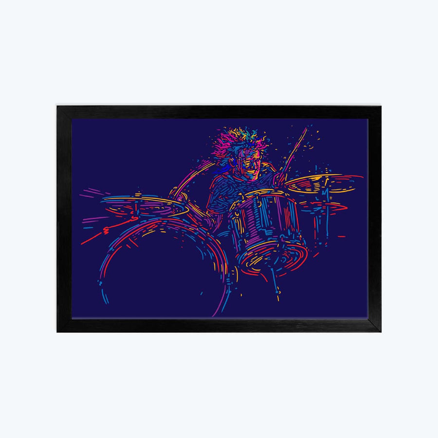 Drum Illustration Framed Poster