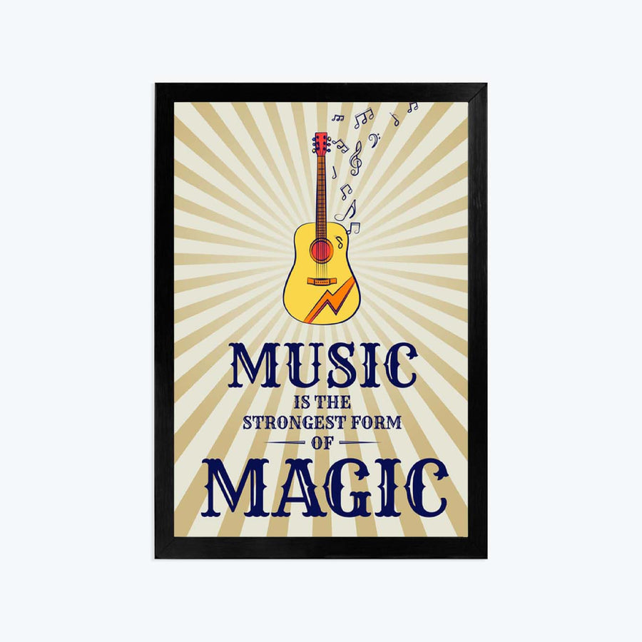 Music is the magic Framed Poster
