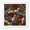 Gangster Red Rose Music Glass Framed Posters & Artprints