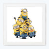 Minions Cartoon Glass Framed Posters & Artprints