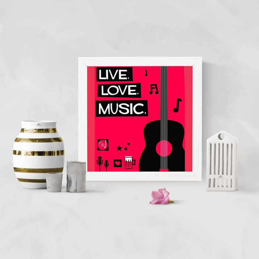 Live love music Framed Poster