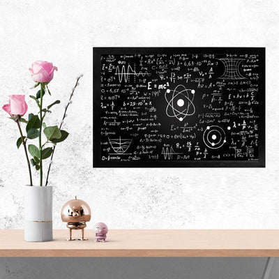 Mathematics Science Education Glass Framed Posters & Artprints