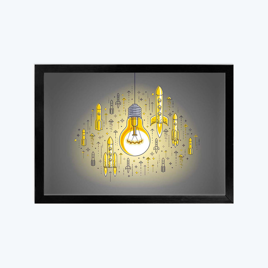 Idea Rocket Framed Poster