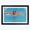 Swimming Framed Poster