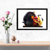 Angry bird Cartoon Glass Framed Posters & Artprints
