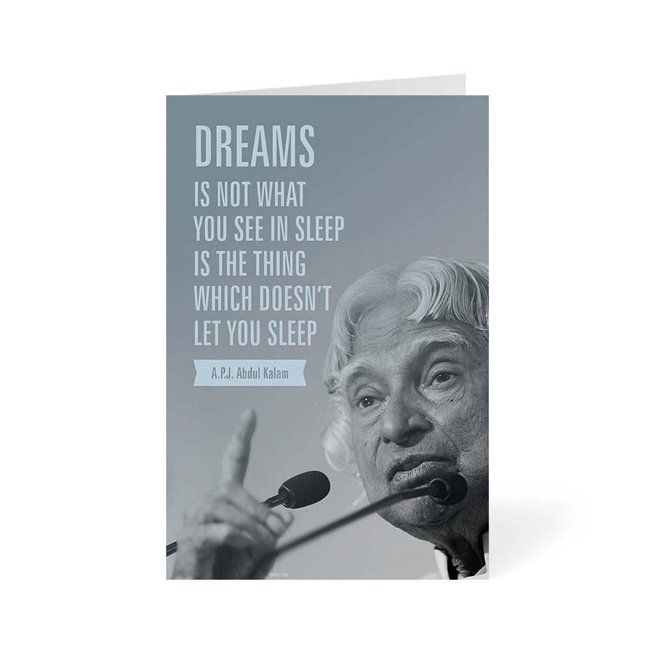 Apj Abdul Kalam Motivational Greeting Card Online