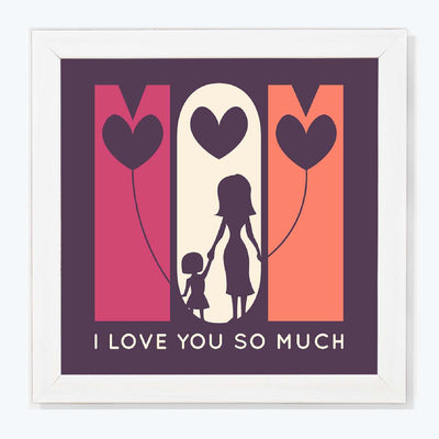 I love you so kuch Typography Glass Framed Posters & Artprints