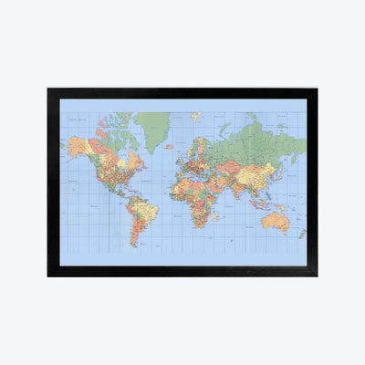 Map Framed Poster