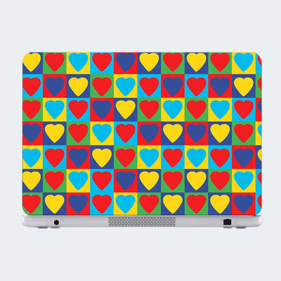 Heart Pattern Laptop Skin Online