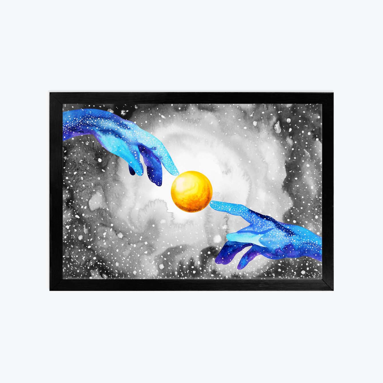 Hands Of God Connect To Another World Spiritual Glass Framed Posters & Artprints