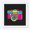 Camera Pop Art Glass Framed Posters & Artprints