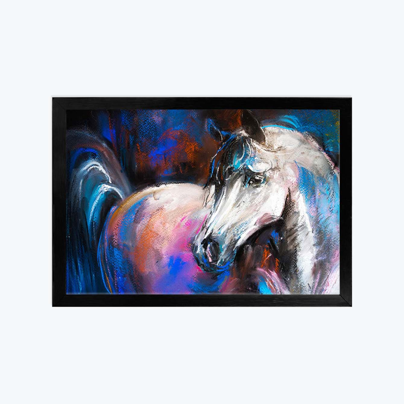 Horse Animal Glass Framed Posters & Artprints