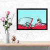 Car Bike Glass Framed Posters & Artprints
