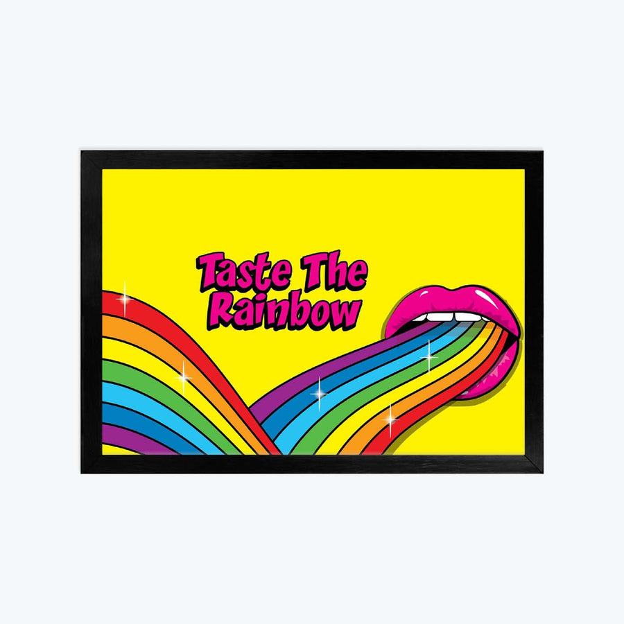 Taste the Rainbow Framed Poster