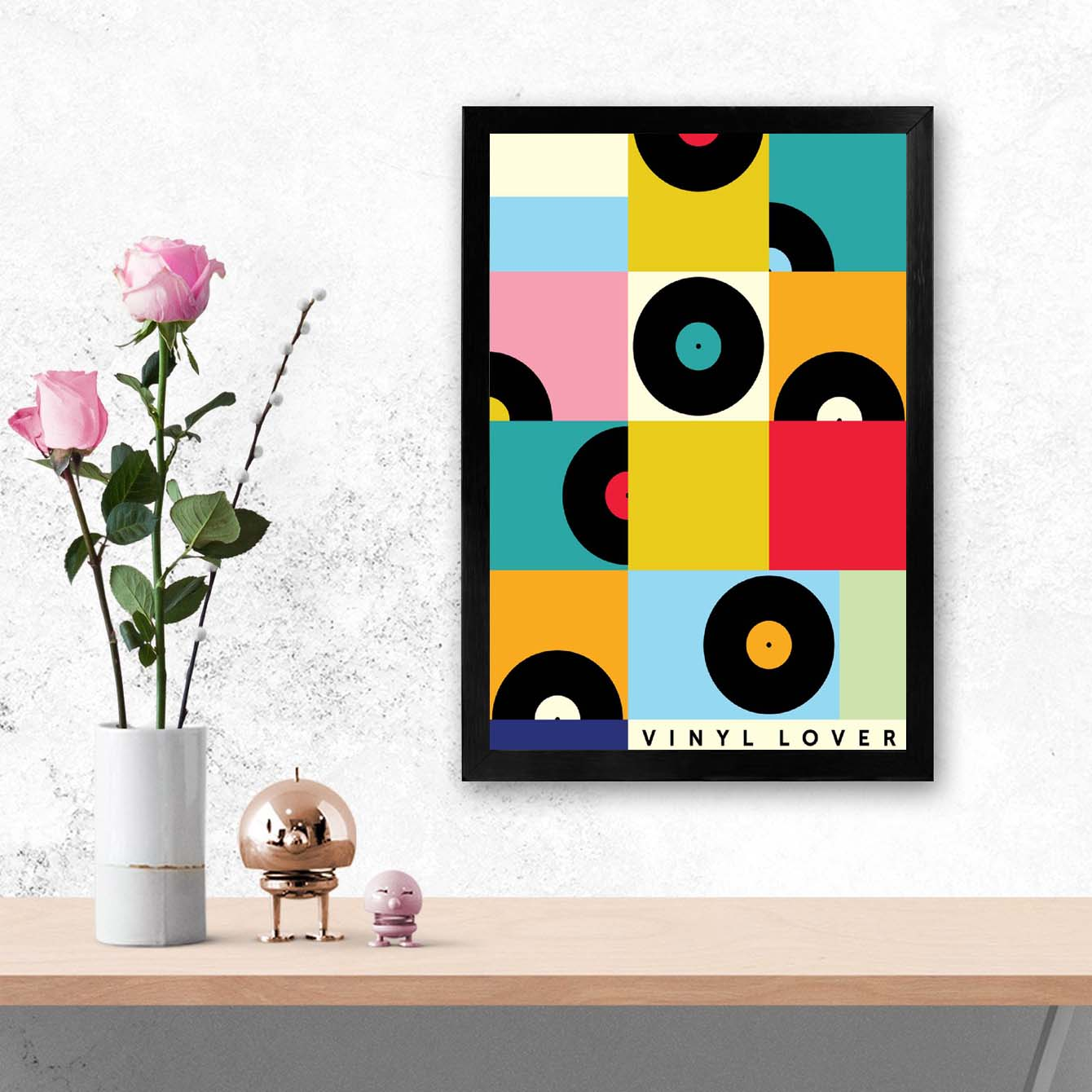 Pop Music Pop Art Glass Framed Posters & Artprints