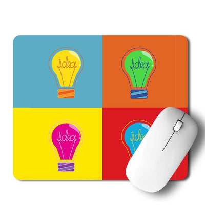 Bulb Popart Mouse Pad
