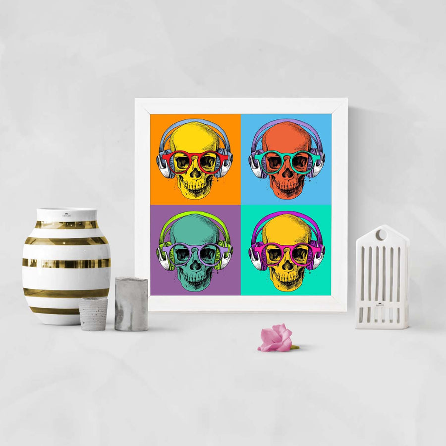 Skull Music Framed Poster