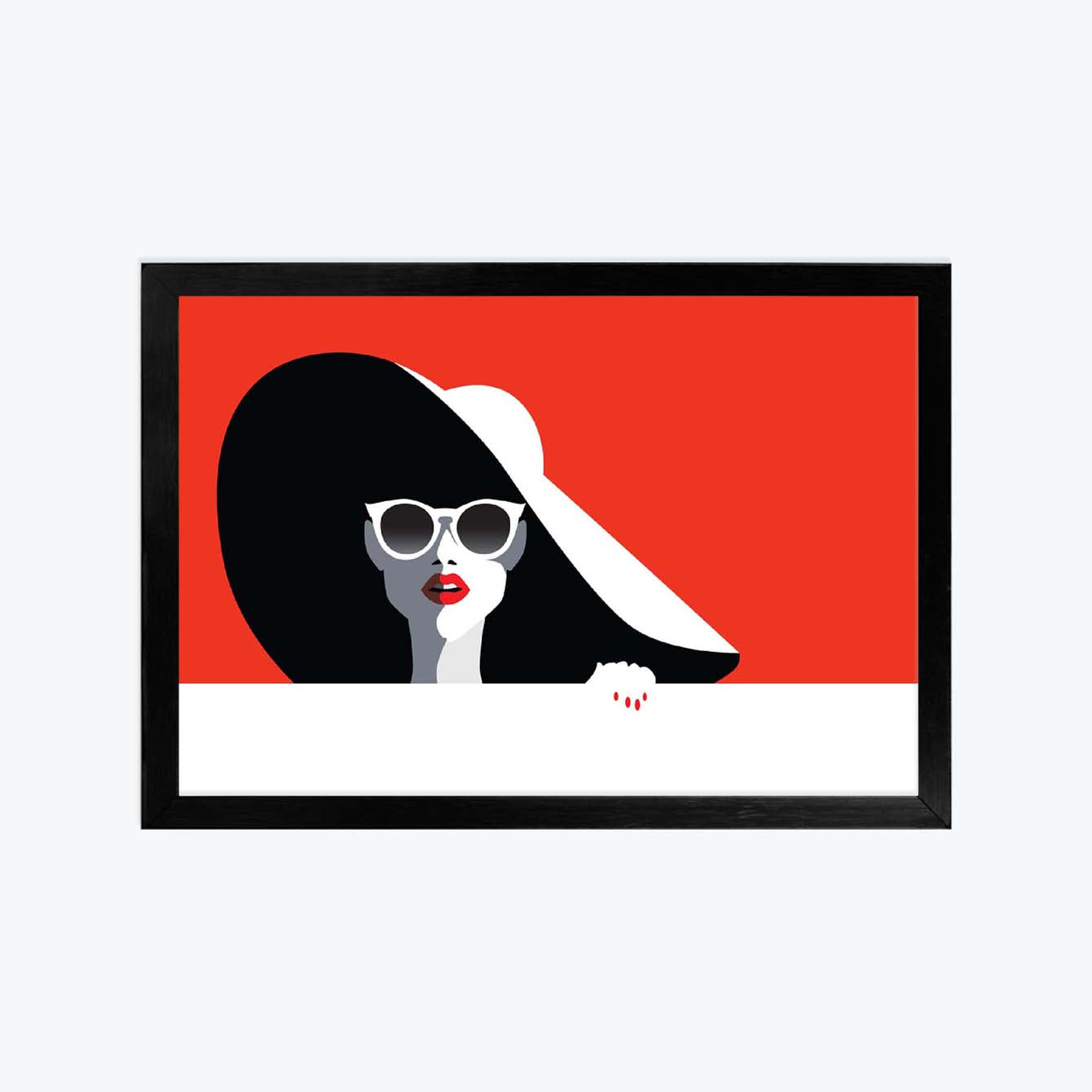 Lady Pop Art Glass Framed Posters & Artprints