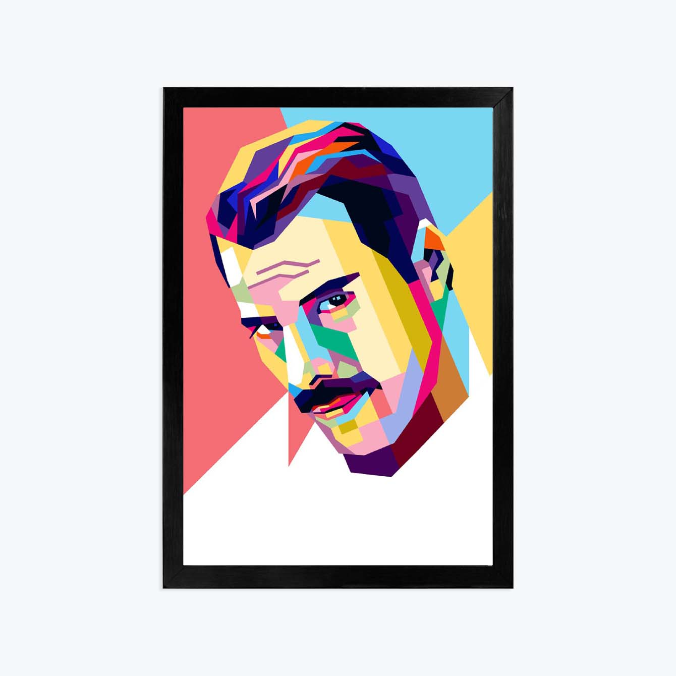 man Pop Art Glass Framed Posters & Artprints