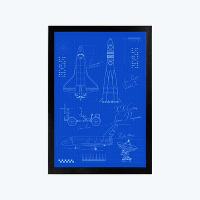 Rocket Science Framed Poster