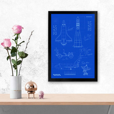 Rocket Science Education Glass Framed Posters & Artprints