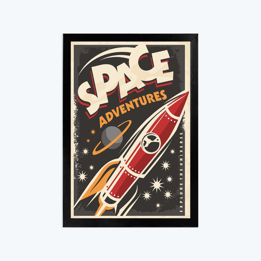 Space adventures Framed Poster