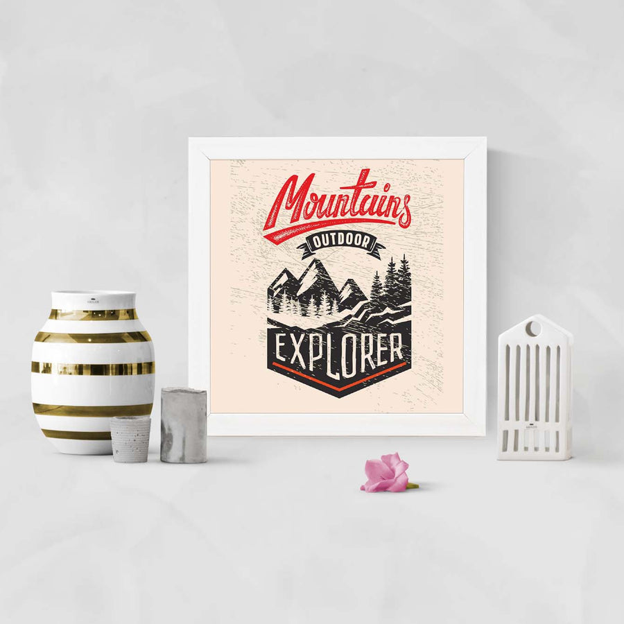Mountain explore Framed Poster