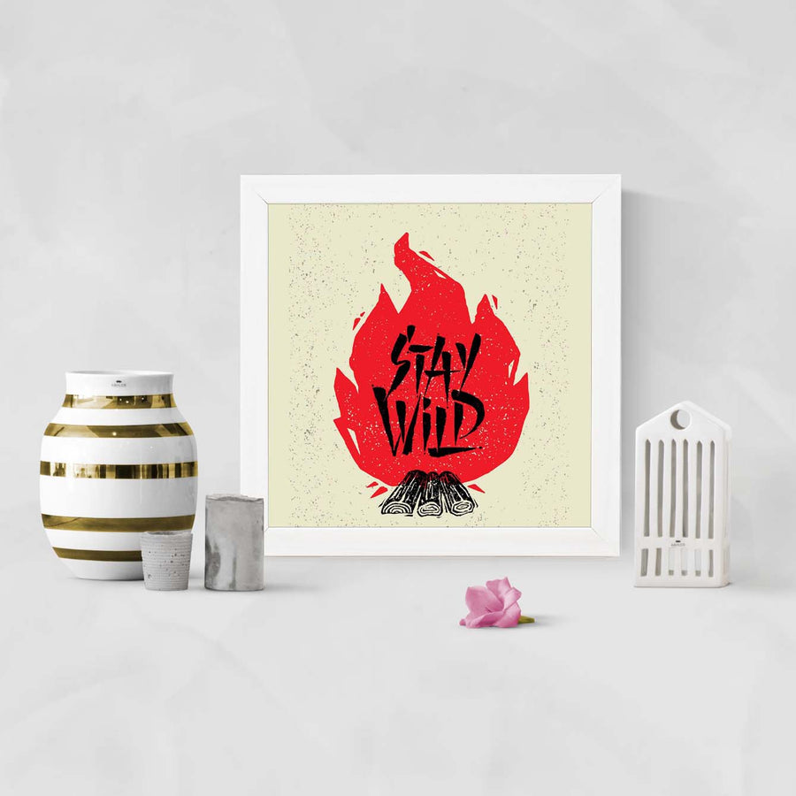 Stay wild Framed Poster