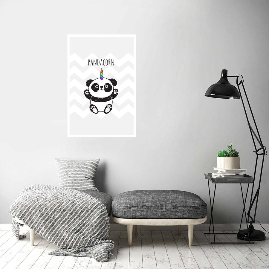 Panda corn Cartoon Posters