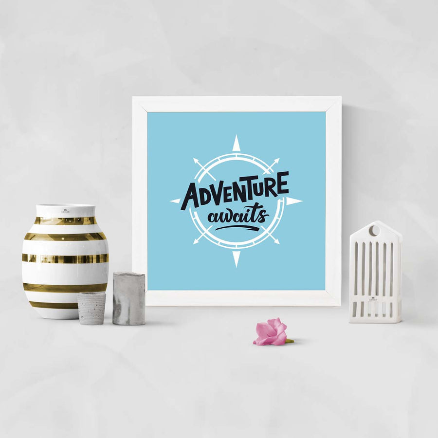 Adventure awaits Framed Poster