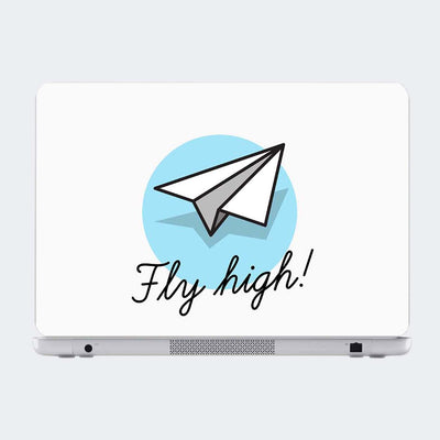 Fly high Typography Laptop Skin Online