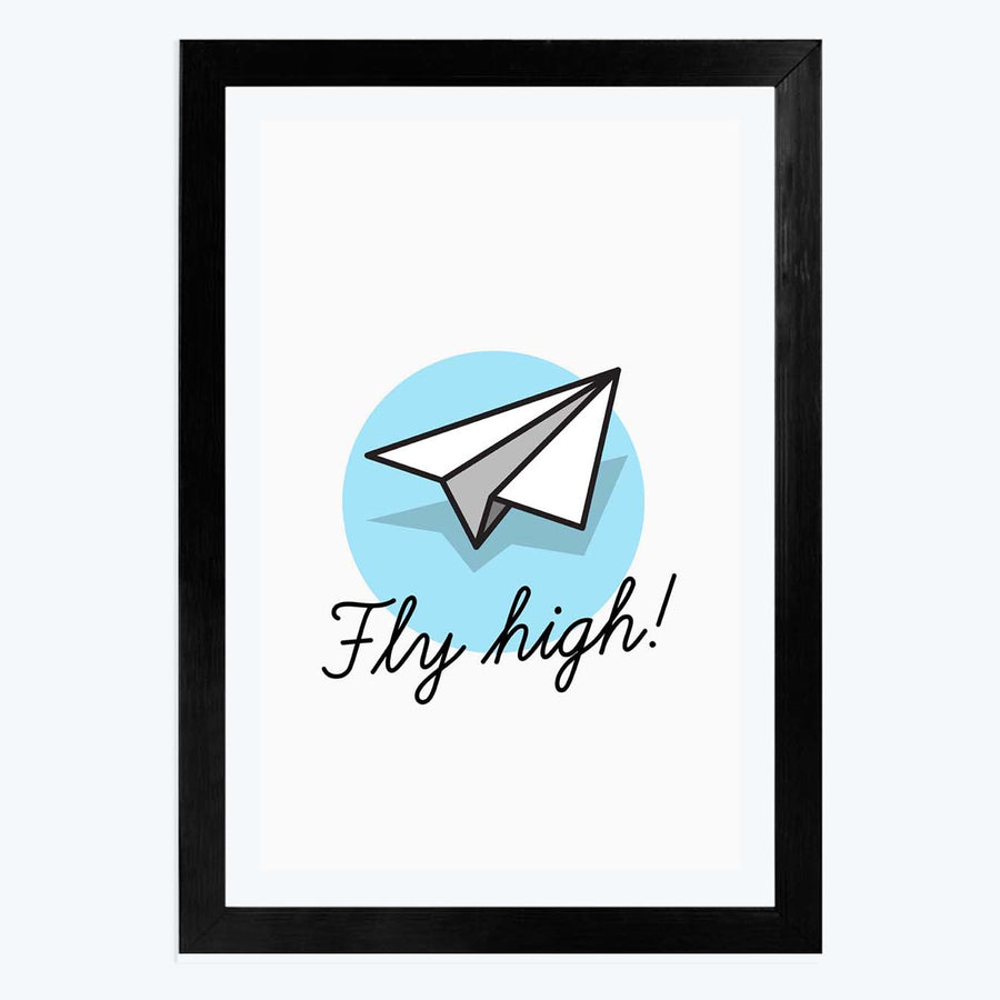Fly high Framed Poster