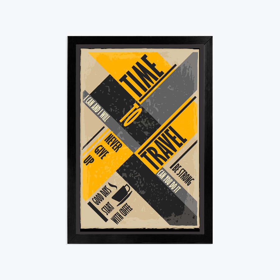 Time travel Framed Poster