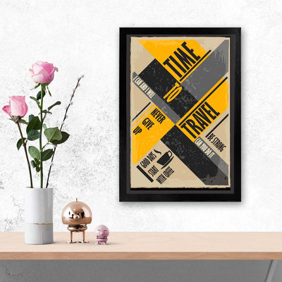Time travel Travel Glass Framed Posters & Artprints