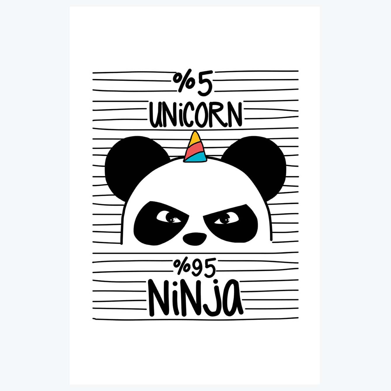 5% unicorn 95% unicorn Cartoon Posters