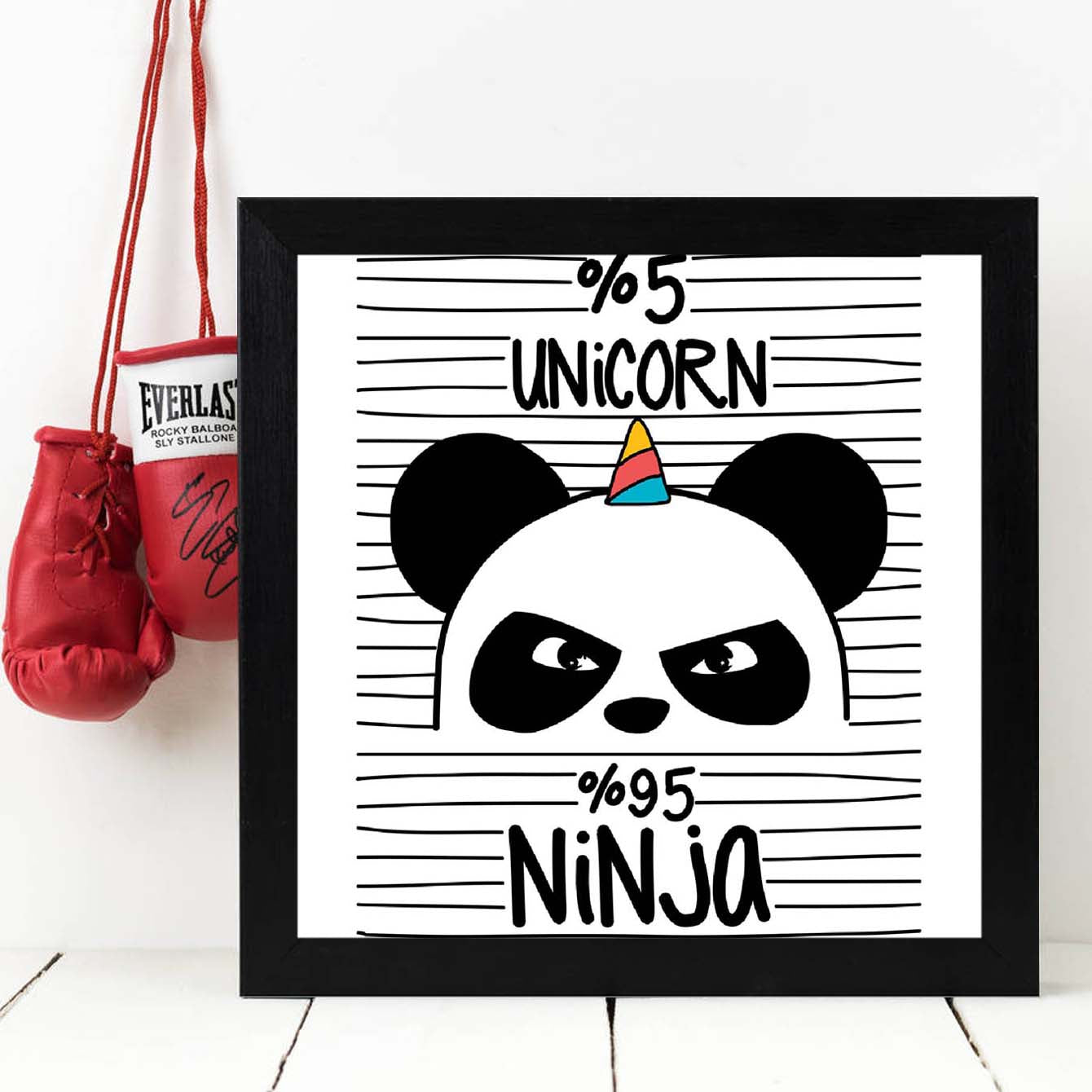5% unicorn 95% unicorn Framed Poster
