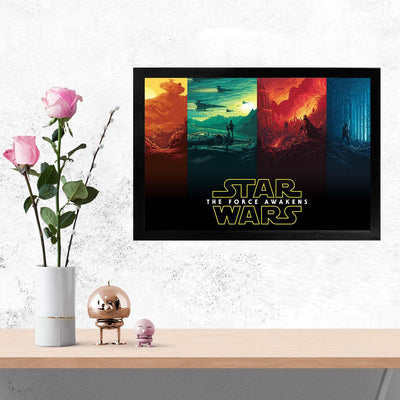Star wars Movies Glass Framed Posters & Artprints