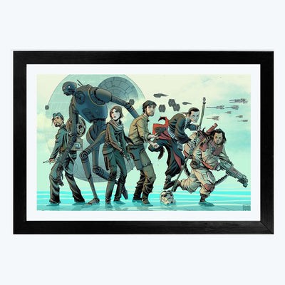 Saw Gerrera Crew Framed Poster