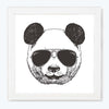 cool Panda Cartoon Glass Framed Posters & Artprints