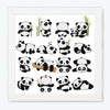 Panda Cartoon Glass Framed Posters & Artprints