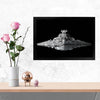 Star Wars Imperial Ship Movies Glass Framed Posters & Artprints