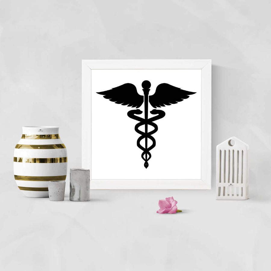 Doctors Sign Black Framed Poster