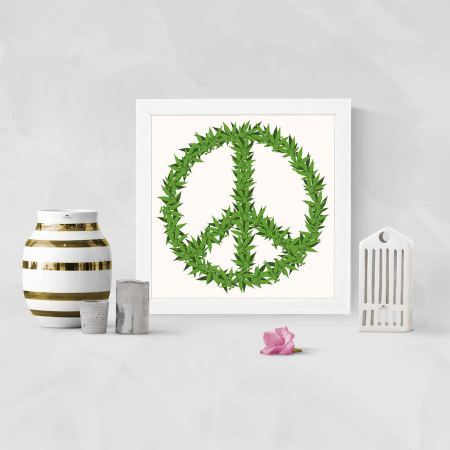 Peace Grass Framed Poster
