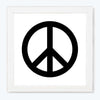 Peace Music Sign Glass Framed Posters & Artprints