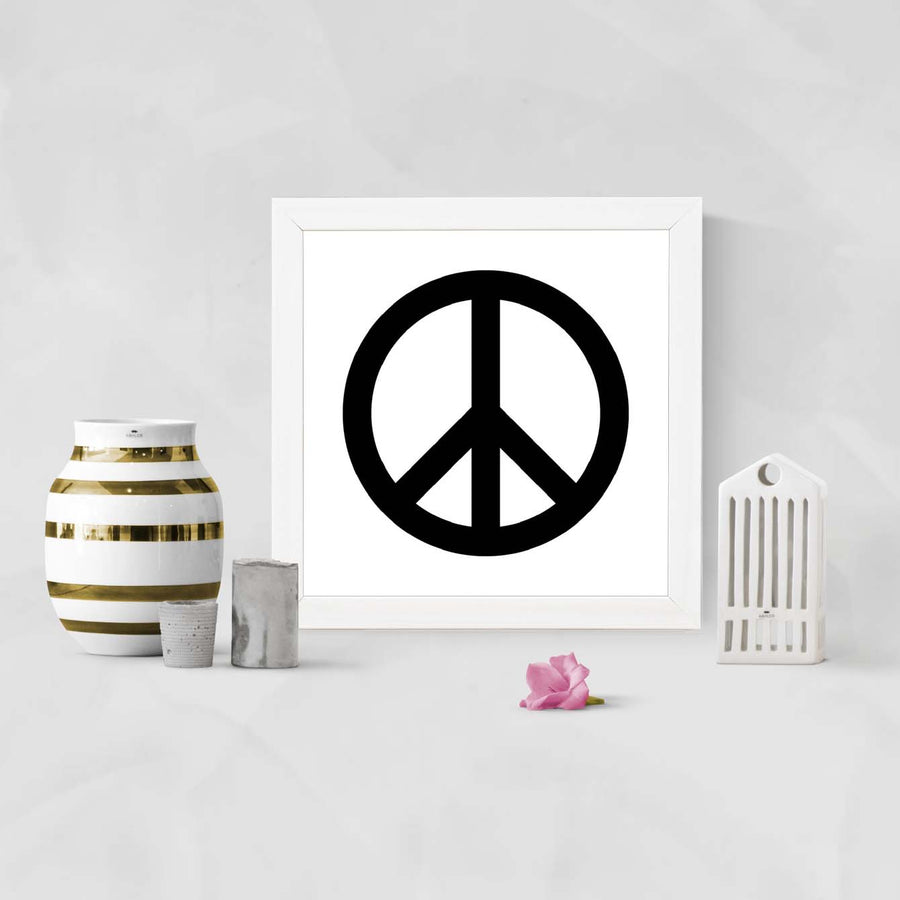 Peace Music Framed Poster