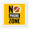 No phone zone Sign Glass Framed Posters & Artprints