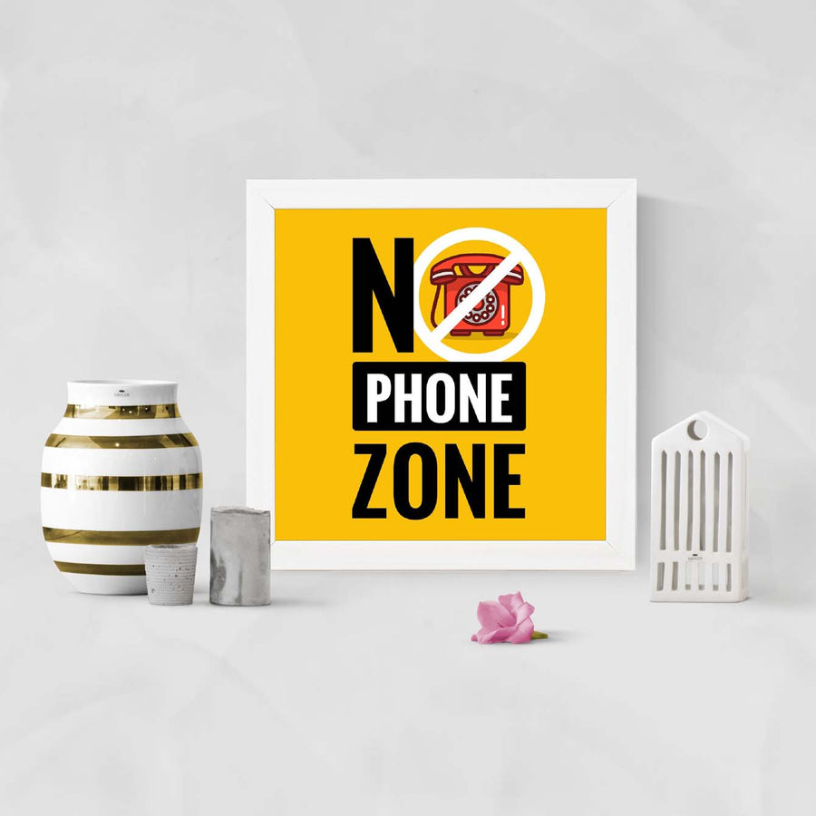No phone zone Framed Poster