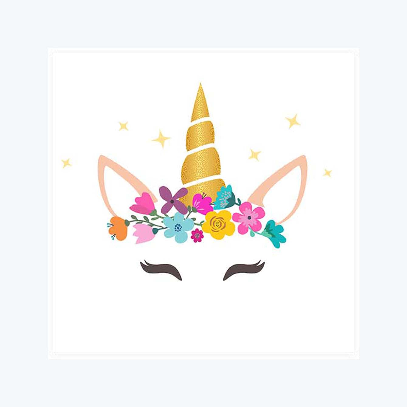 Caticorn With Horn And Flower Sticker