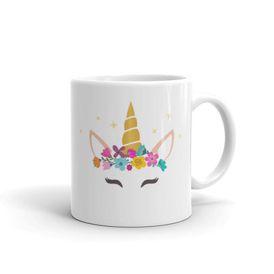 Caticorn With Horn And Flower Mug